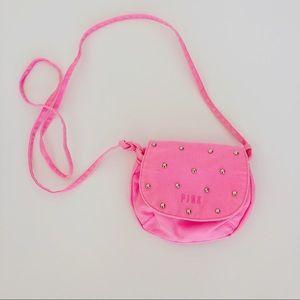 VS PINK Canvas Studded Crossbody Bag
